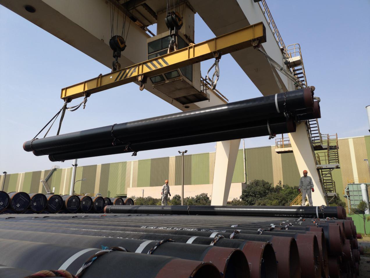 中冶宝钢顺利完成出口伊拉克焊管的集港任务