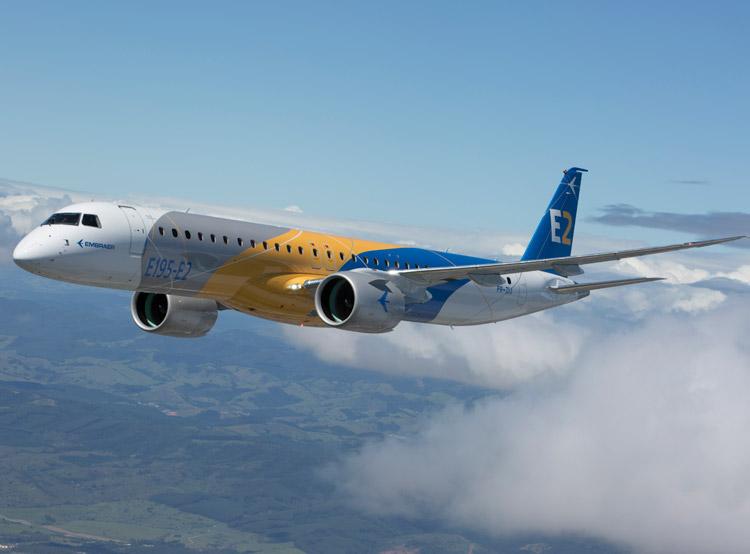 普惠公司庆祝巴航工业E195-E2飞机获得认证