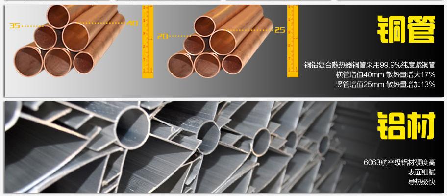 銅鋁復合散熱器好不好,首先看材料,優質銅管有這些優點!