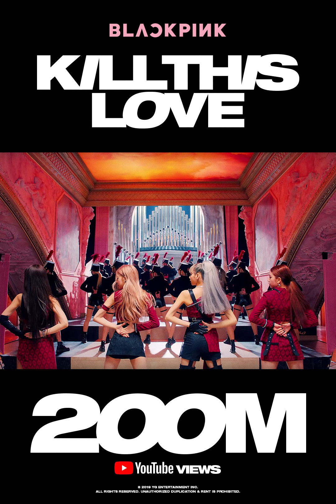 BLACKPINK《KILL THIS LOVE》 MV点击数突破2亿