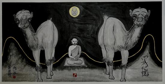 寻找家园・敦煌艺术精神:宁强教授绘画精品展在兰州开幕