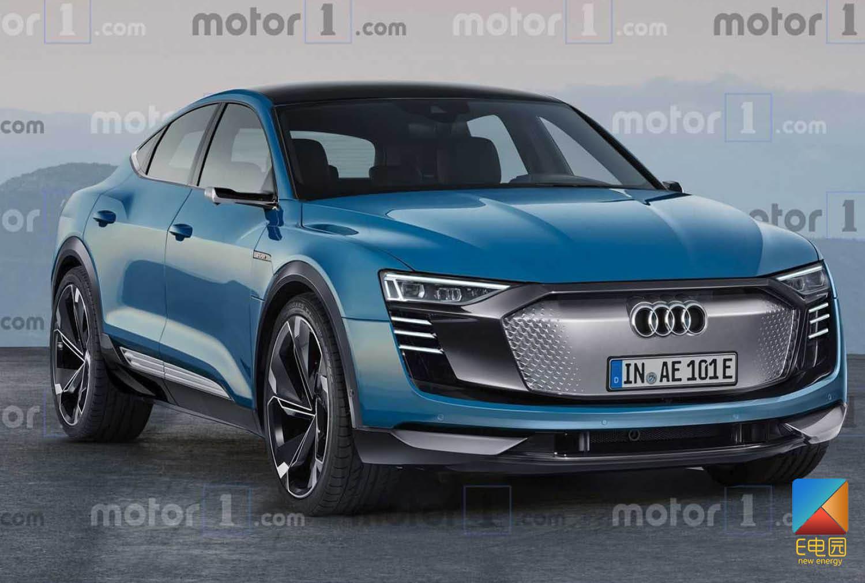 跨界SUV奥迪e-tron Sportback假想图曝光 或于今年年末正式投产