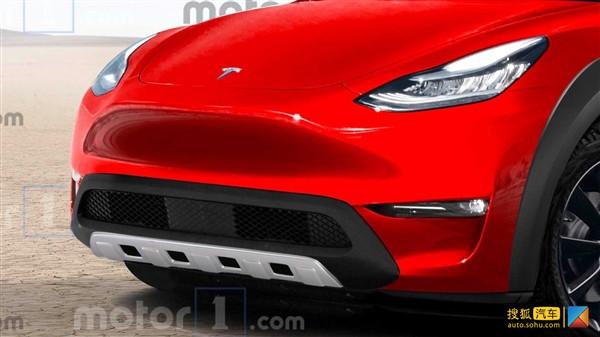 基于Model 3平台升级打造 特斯拉Model Y越野版渲染图曝光
