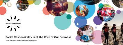 可口可乐公司发布《2018年商业与可持续发展讲演》