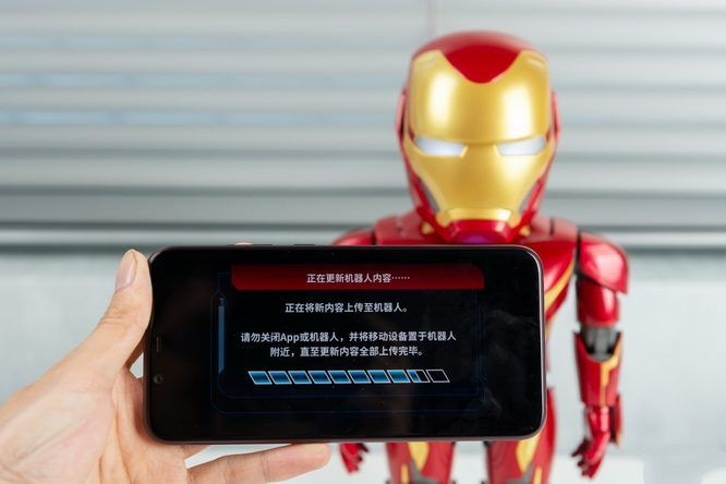钢铁侠MK50机器人动态模型:与钢铁侠深度互动