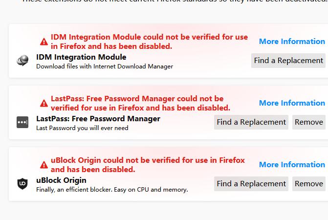 Mozilla证书过期导致全球Firefox用户无法使用扩展的照片 - 2