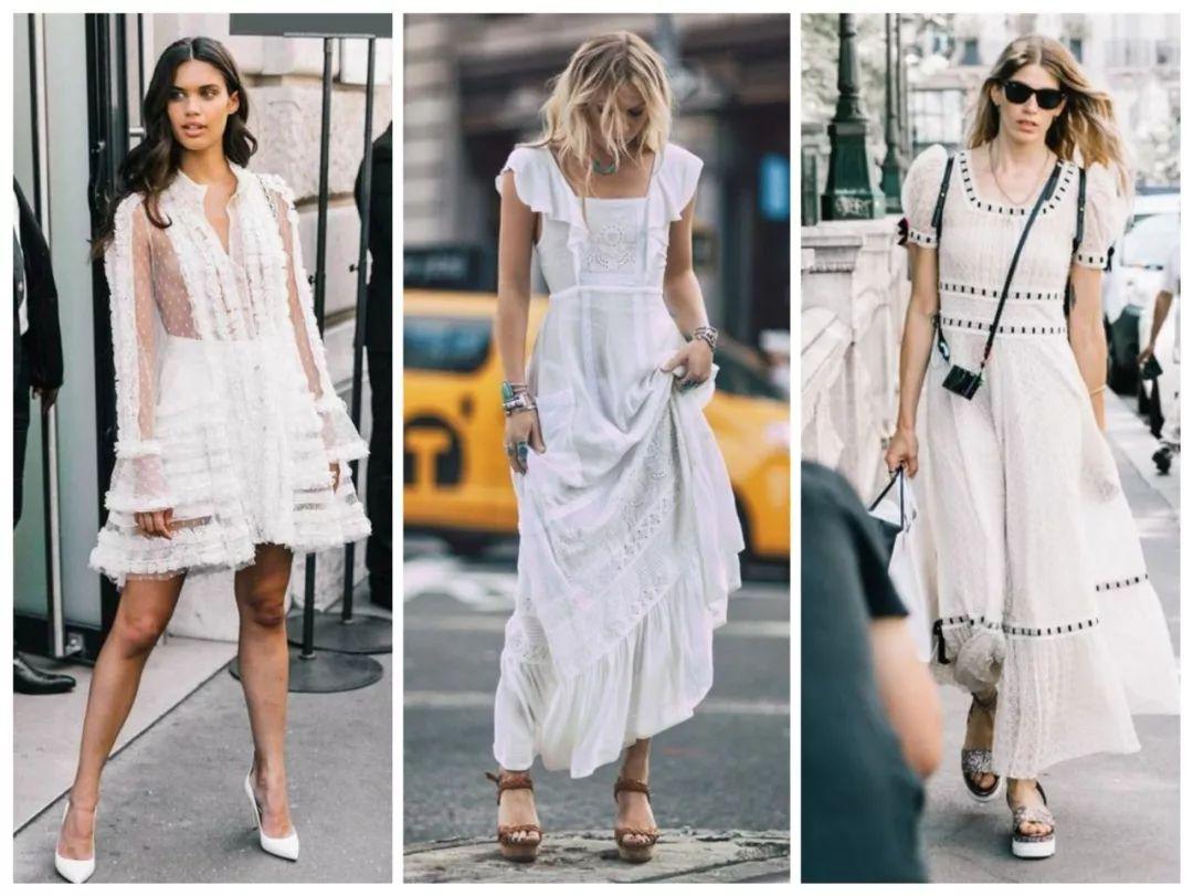 初夏不懂穿?选仙气十足的小白裙就对了
