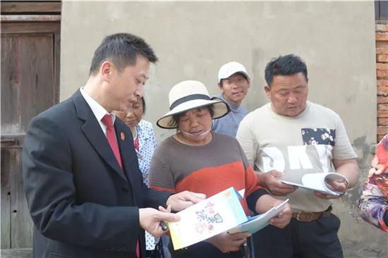 建湖法院深入镇村开展扫黑除恶法治宣传活动