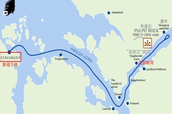 吕瑟峡湾巡游路线图