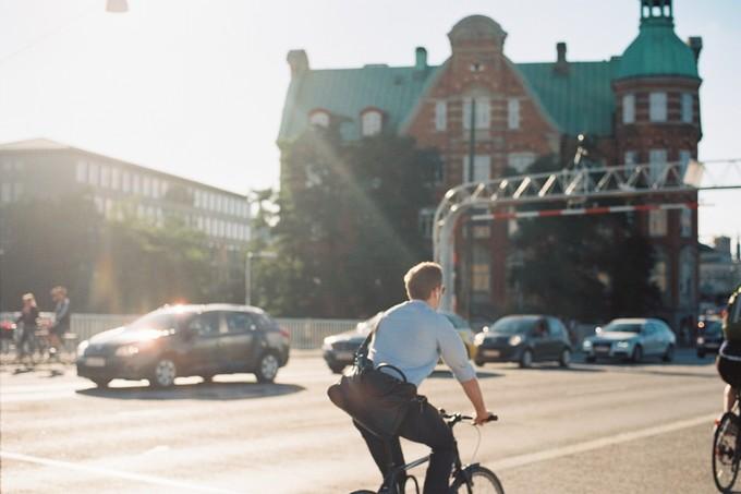 哥本哈根街头骑行