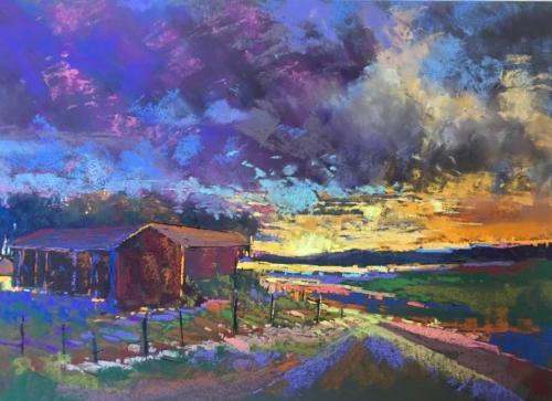 美国色粉画艺术家罗伯特 迷人之地新墨西哥州