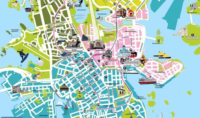 赫尔辛基游玩地图