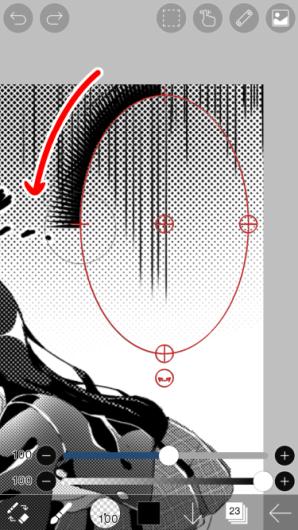 爱笔思画手机画漫画怎么画之椭圆标尺—手机绘画48
