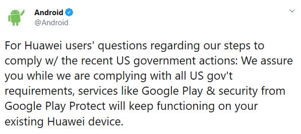 Android官方:现有华为设备上运行Google Play及其服务不受影响的照片 - 2