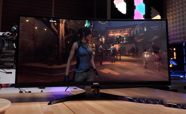 BenQ 明基 EX3501R 35寸曲面显示器 窄边AMD显卡