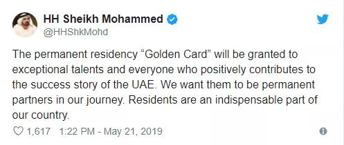 """迪拜酋长奉上阿联酋永久居住权""""金卡"""",背后的真实原因是?"""