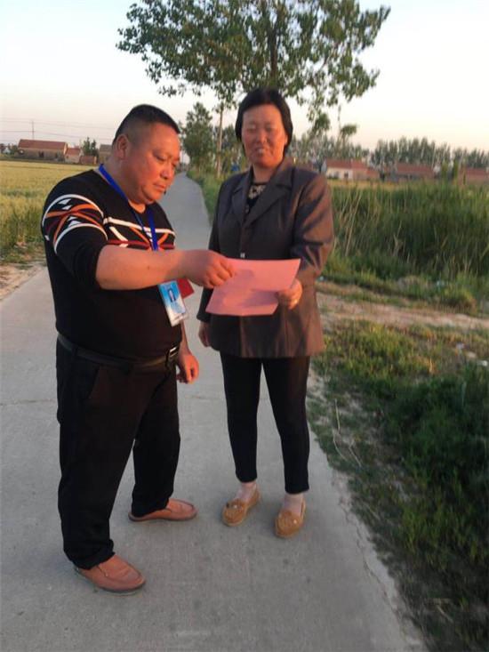 射阳县千秋镇民新村扫黑除恶宣传氛围浓