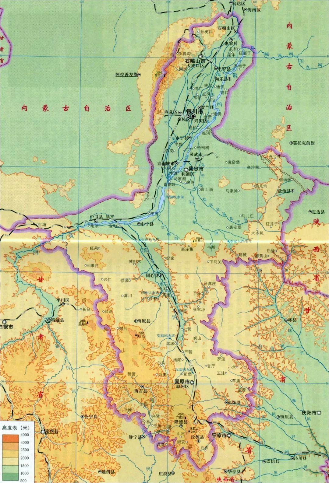 宁夏银川地图