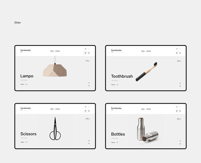 黑白简约风家居用品网页设计