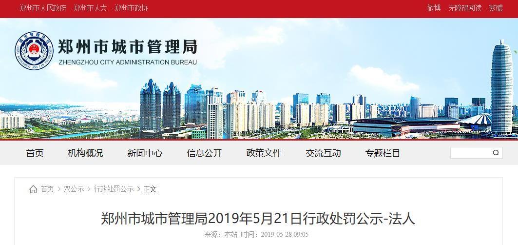 河南大桥石化无手续违法施工被郑州市城管局罚款23.79万元