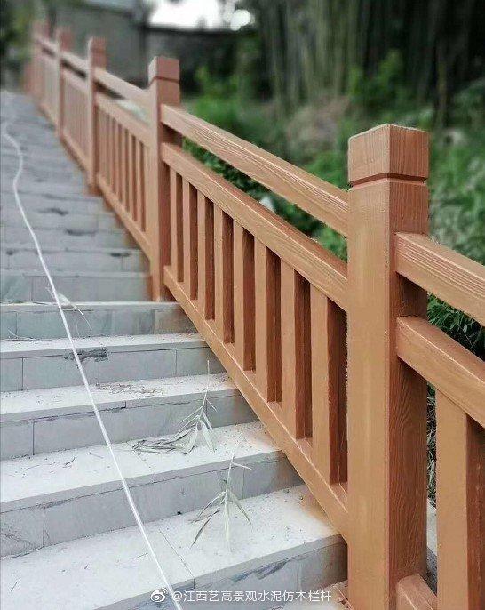 宁波登山步道楼梯型仿木栏杆