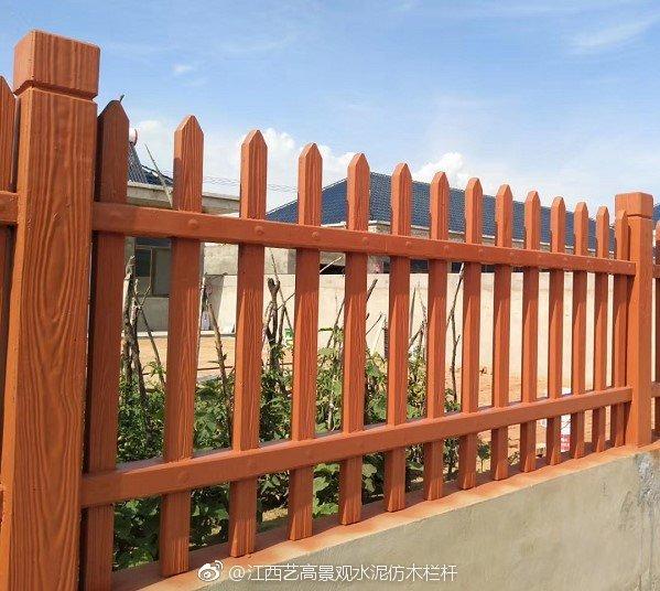 惠州宜居乡村庭院仿木栅栏工程