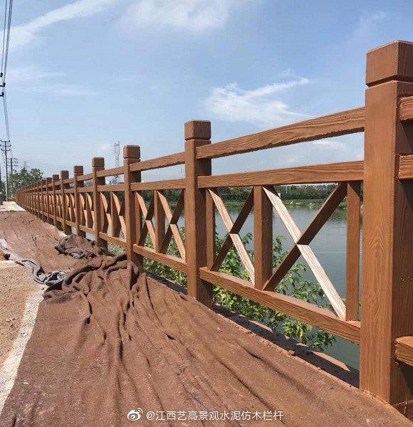 衢州双叉X型仿木护栏