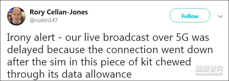 华为助力英国首个5G新闻直播 流量太大BBC措手不及的照片 - 4