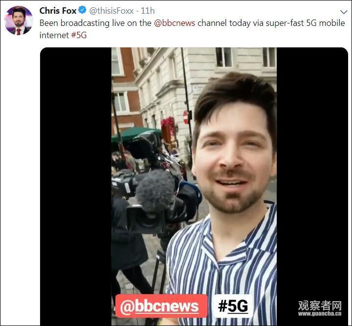 华为助力英国首个5G新闻直播 流量太大BBC措手不及的照片 - 8