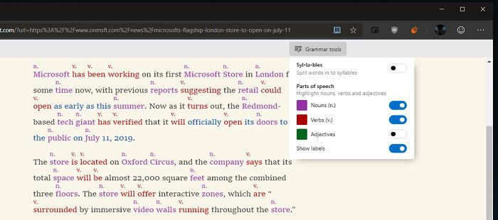 Win10版Edge Canary浏览器更新 支持语法工具的照片 - 2