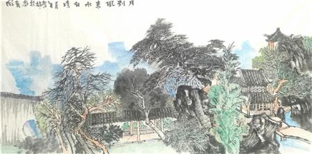 """浅析著名画家王驾林""""园林""""艺术"""