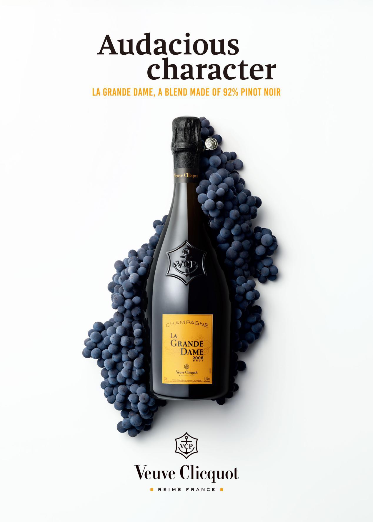 大胆演绎黑皮诺的果敢优雅 凯歌贵妇香槟2008年份发布
