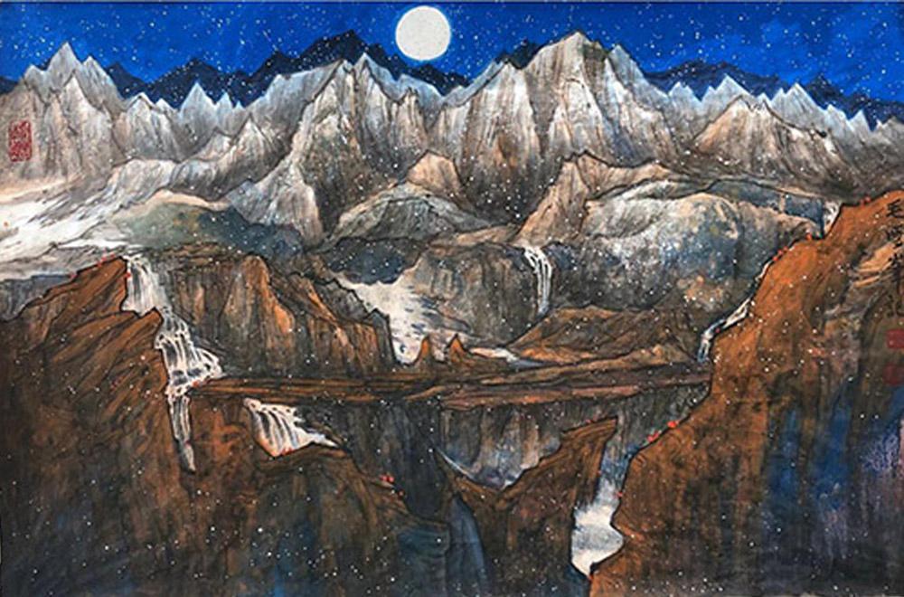 百度百家推薦中國畫壇藝術名家:毛雪峰