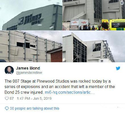 不顺利!第25部《007》再出意外:片场发生爆炸 一片狼藉