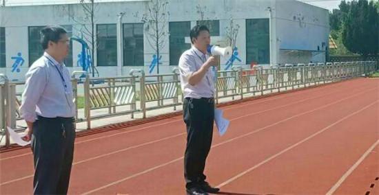 海安市高新区仁桥初中精心组织地震避险疏散演练