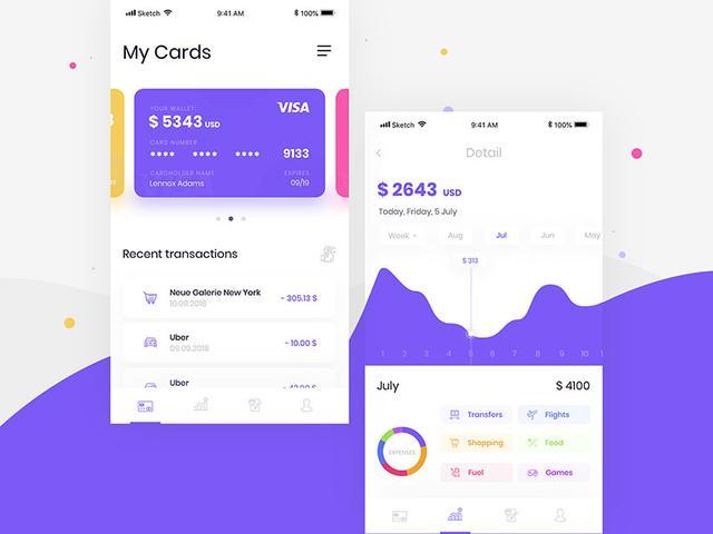 银行APP卡券界面设计