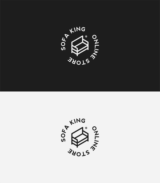 经典黑白两色logo设计