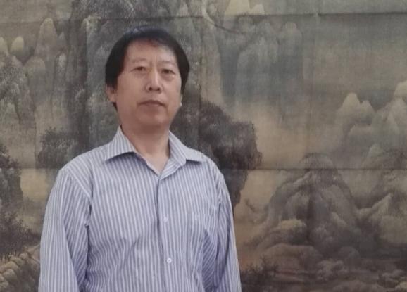 """""""党旗飘飘喜迎建国70周年"""":陈保立绘画艺术欣赏"""