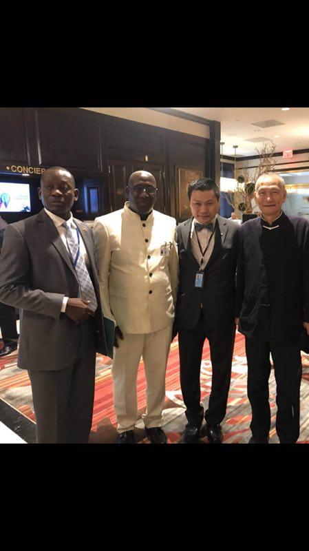 联合国网合集团安芝总裁接见塞拉利昂总统进行亲切友好交流,并出席联合国大会