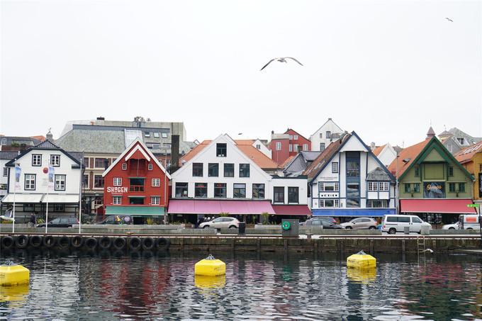 斯塔万格码头彩色木屋