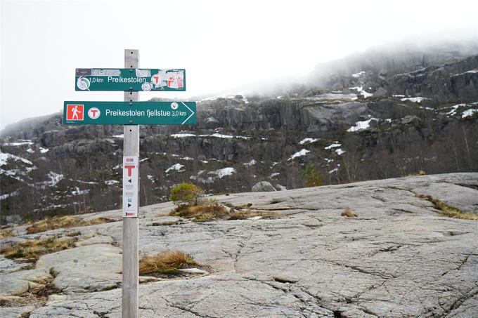 登山指示牌