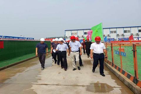 许昌市住建局组织观摩 河北四建海盛·湖滨豪庭工地