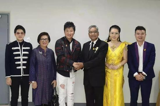 素博巴莫親王歡迎歌壇界巨星孫楠、文娛大咖銀志先生曼谷行