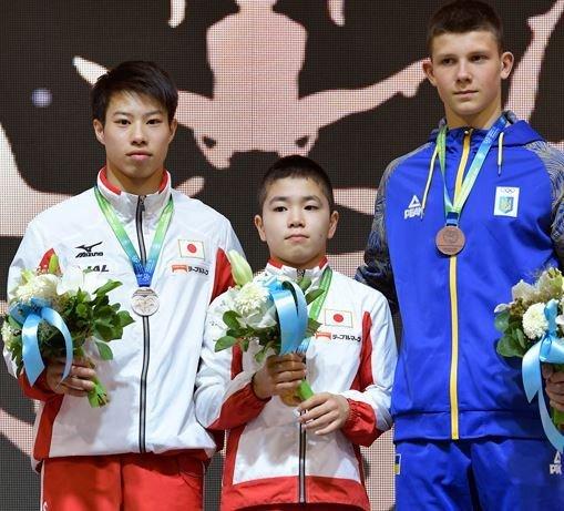首届体操世青赛中国0金收官 日本男队狂揽4金