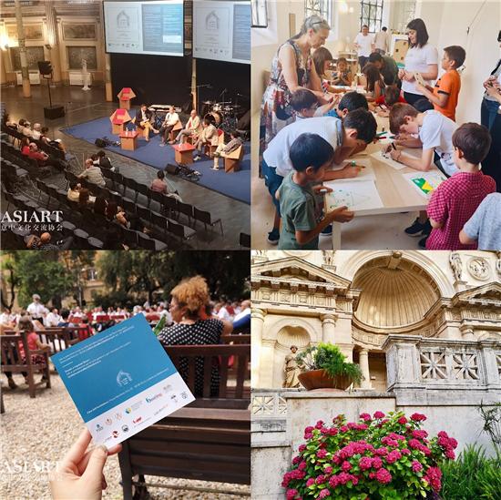 罗马市建筑文化日(LPGA)小画家环球国际艺术展走进Acquario Romano(罗马水晶宫)