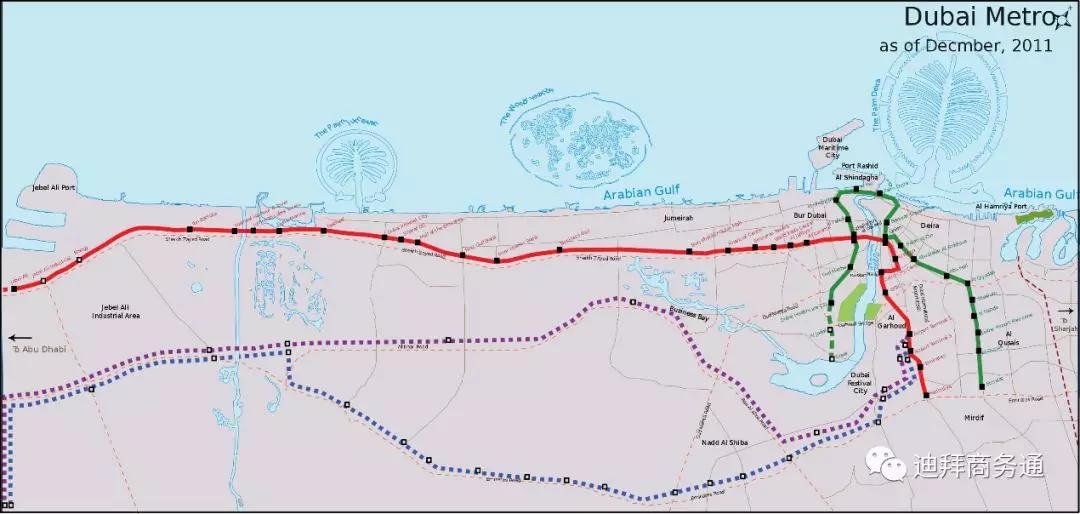 迪拜公共交通全景圖_迪拜公交圖大全