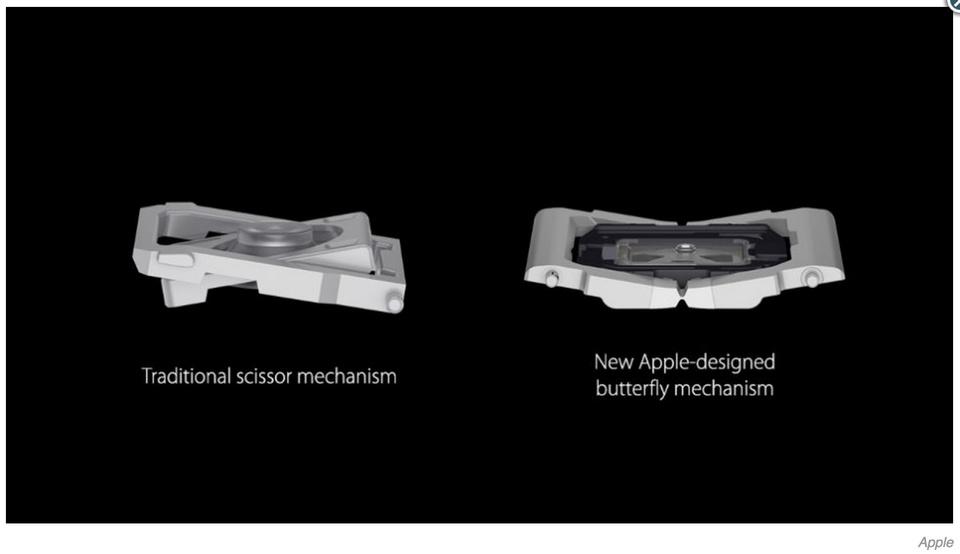 下一代MacBook Pro、Air重回剪刀式键盘 蝶式键盘被抛弃的照片 - 3