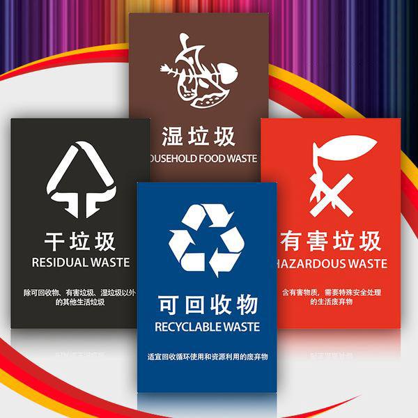 湿垃圾标志,湿垃圾分类标识(高清版),垃圾分类标志大全