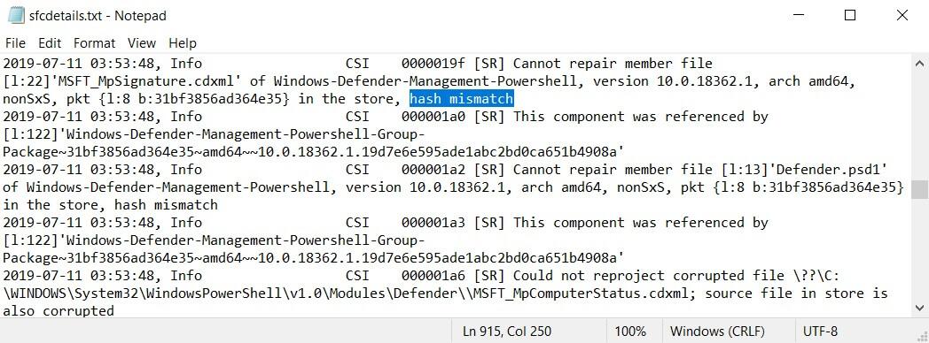 Win10更新后曝出诡异bug:sfc /scannow命令无法修复文件的照片 - 5
