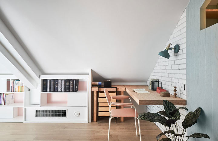 红梅西村装修效果图:三居室北欧极简风(旧房改造)